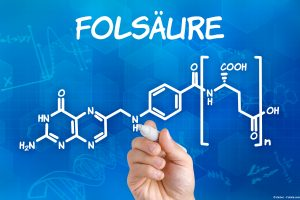 Strukturformel Folsäure